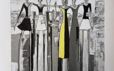 Vennskapsbildet m/ gul kjole
